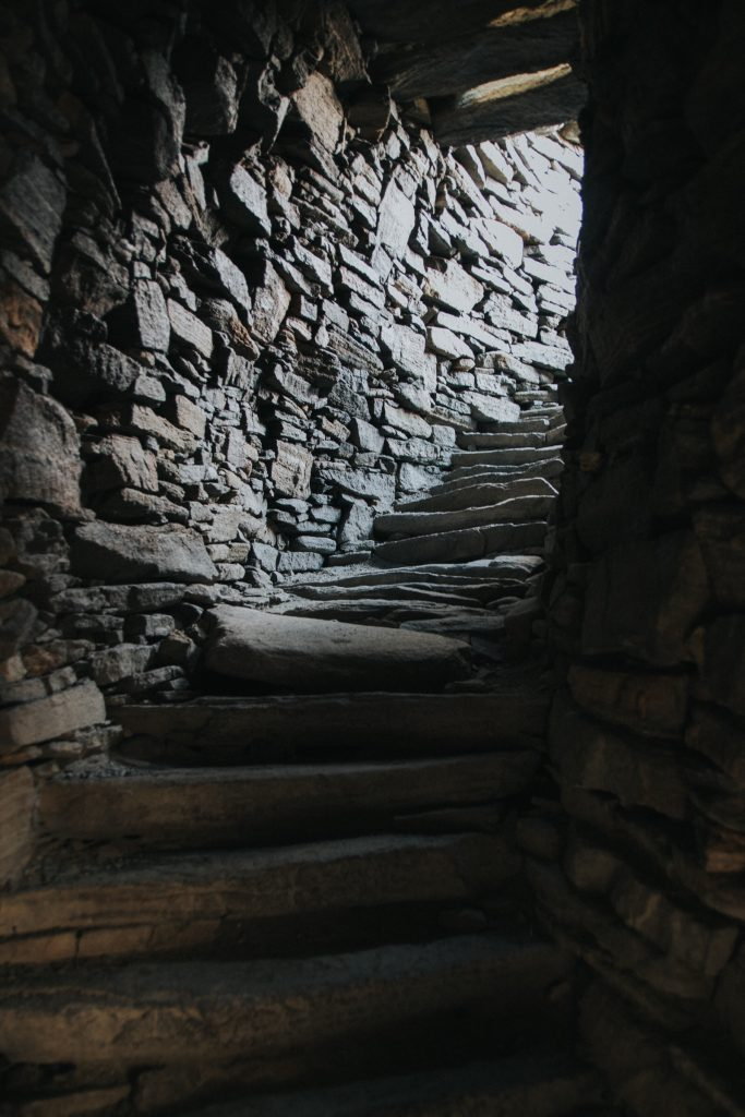 Inside Carloway Broch