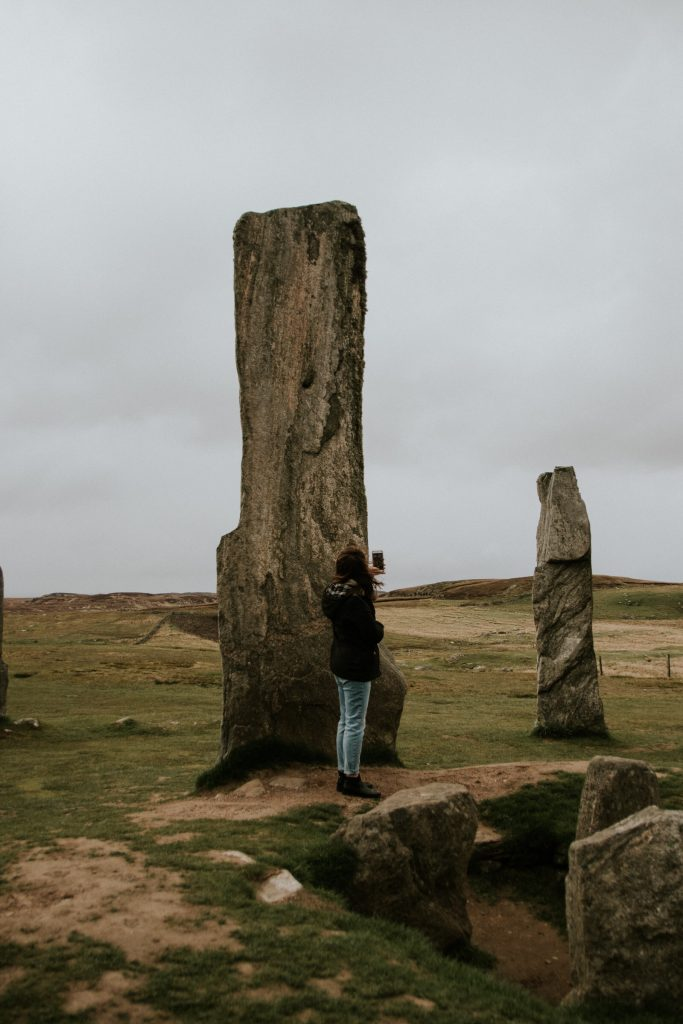 Callanish Stones with Lauren