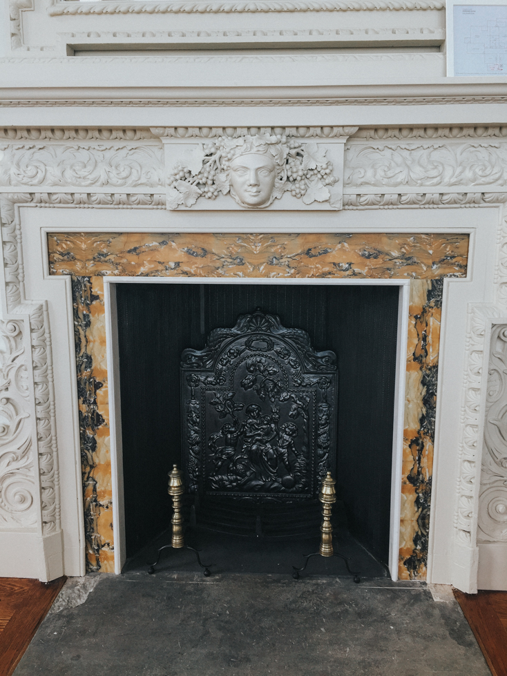 Fireplace inside Lews Castle