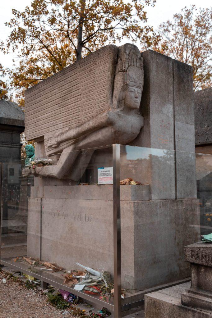 Oscar Wilde Grave in Pere Lachaise
