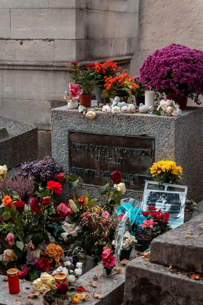 Jim Morrison Grave in Pere Lachaise