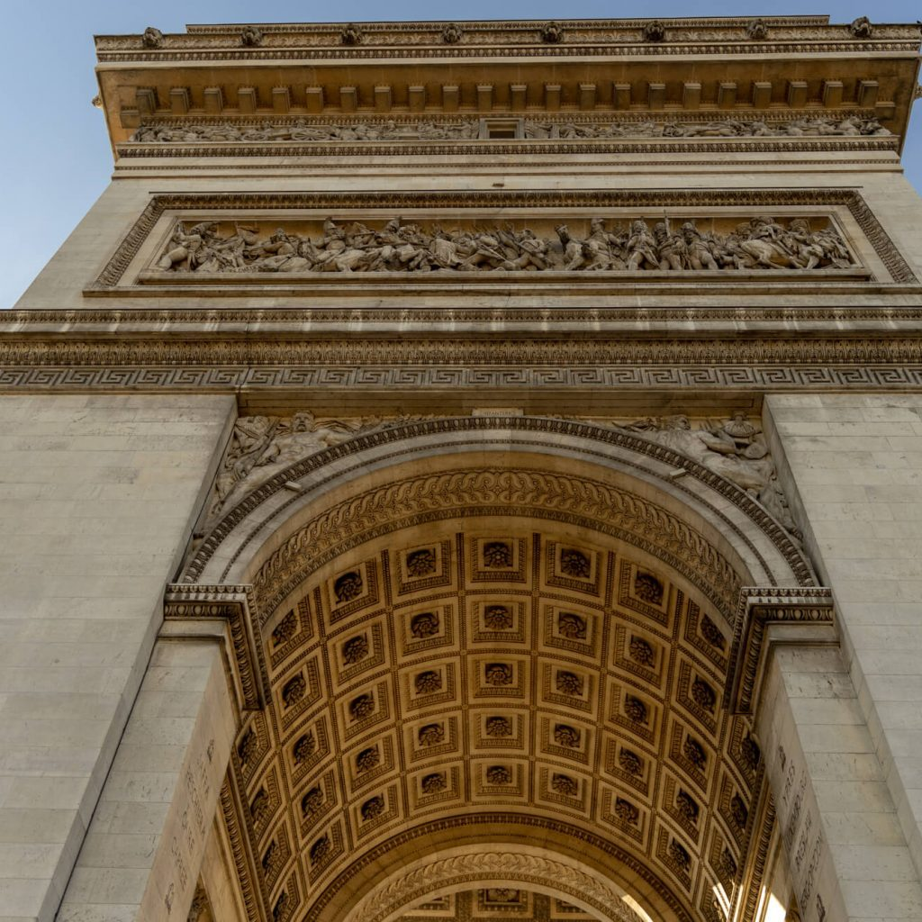 Arc De Triomphe from below