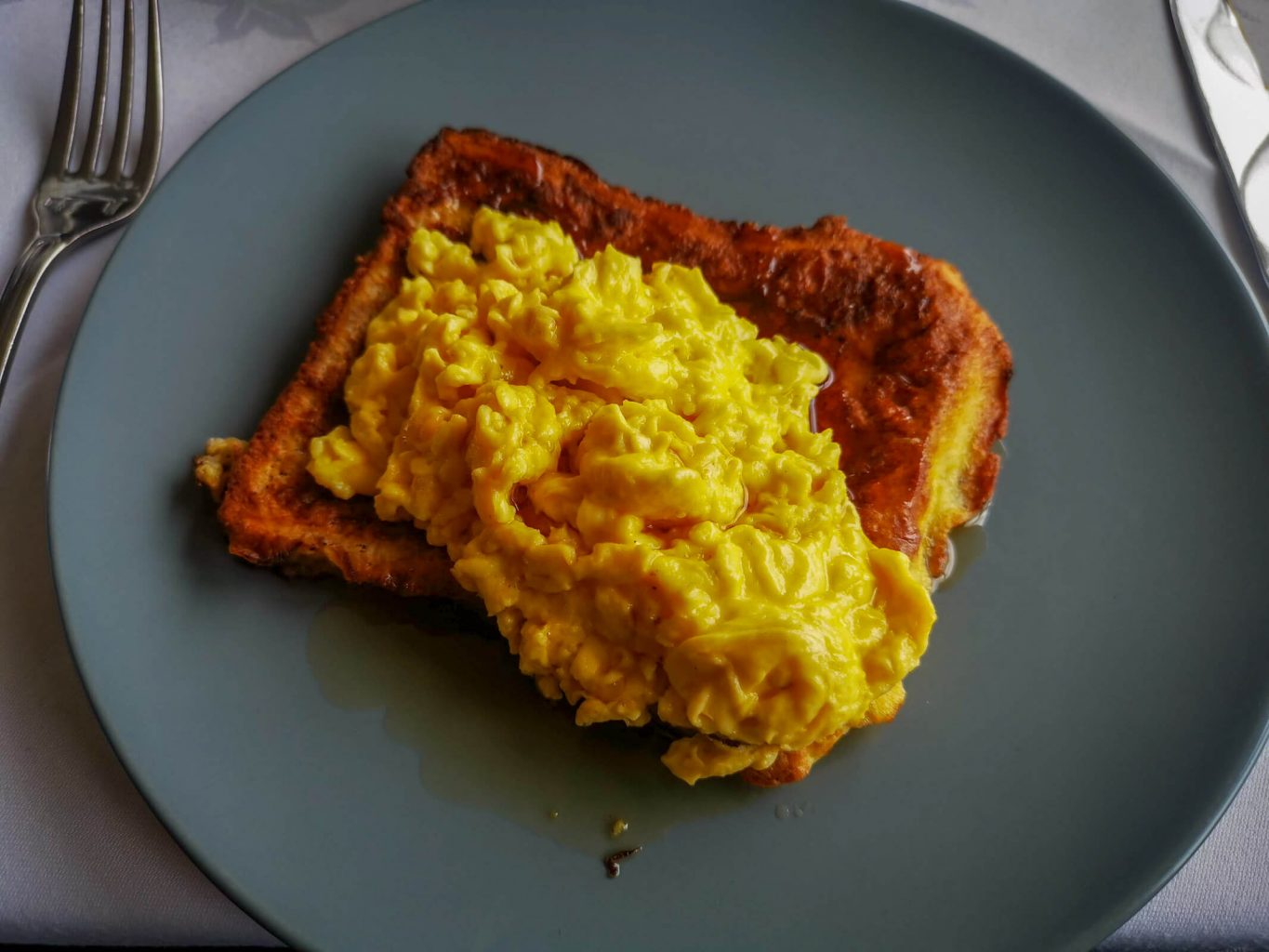 Scrambled Eggs on French toast