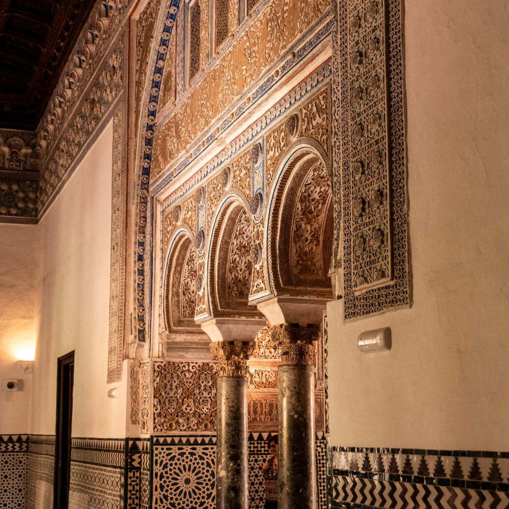 Inside tha Alcazar of Seville