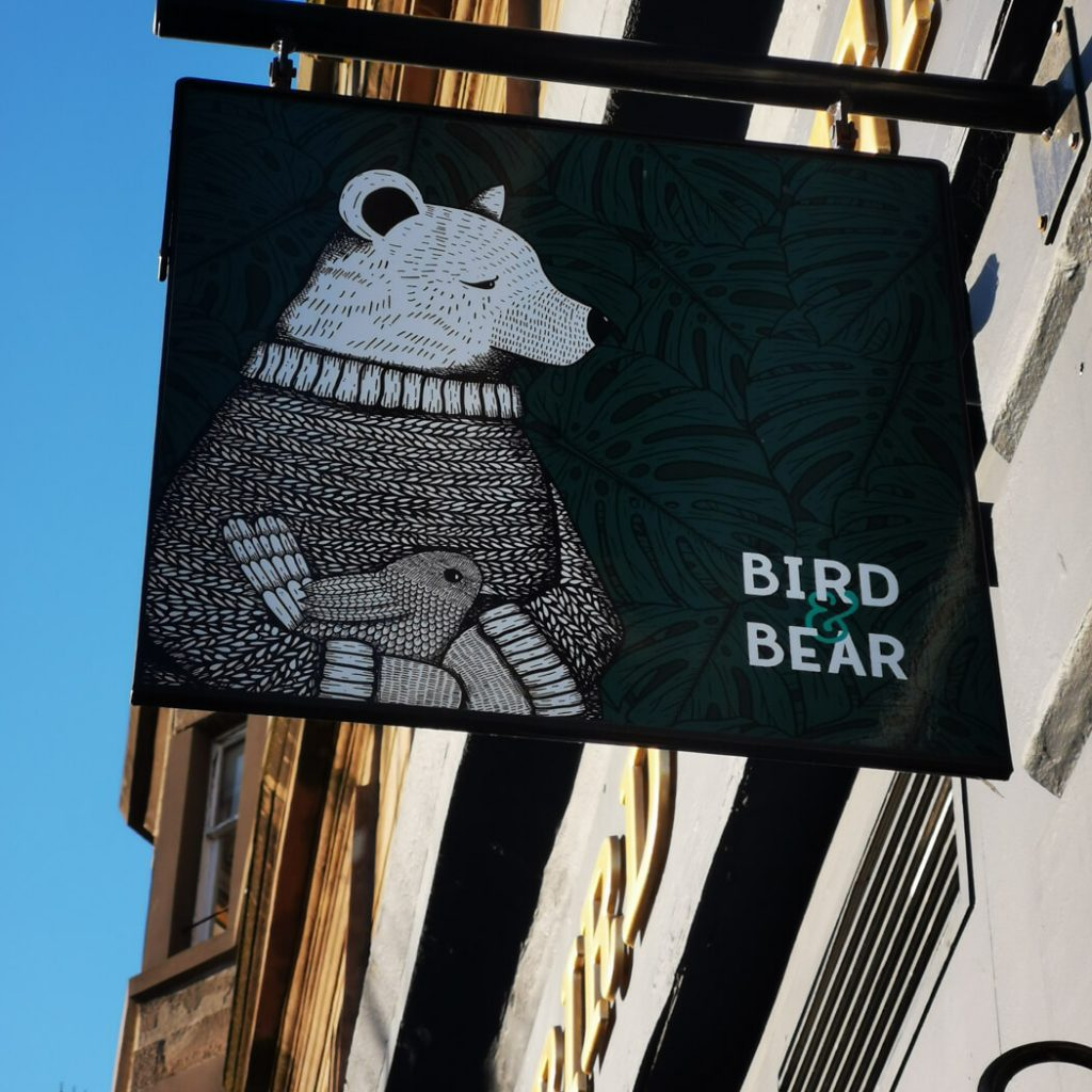 Bird and Bear Sign