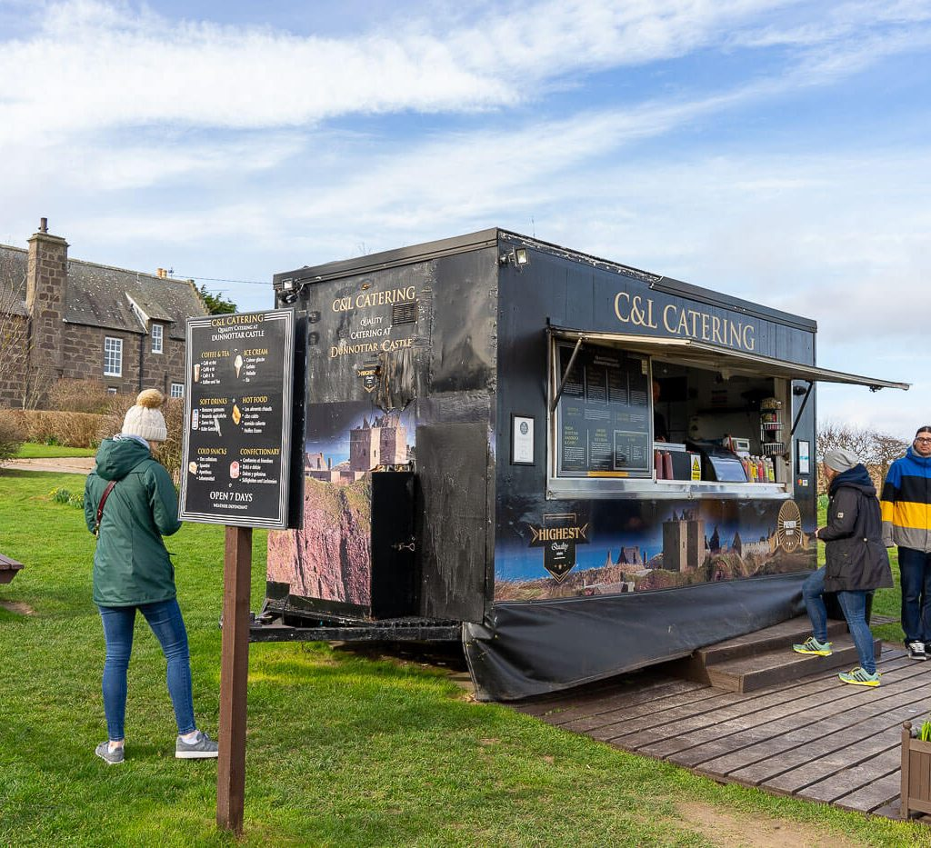 Food Truck at Dunnottar