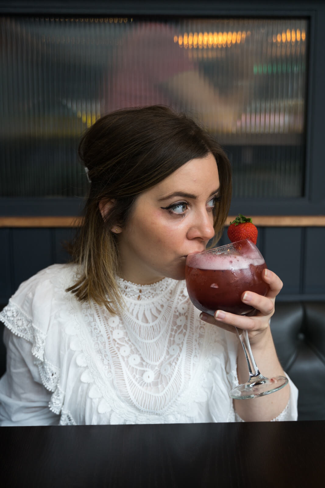 Lauren with a Cocktail