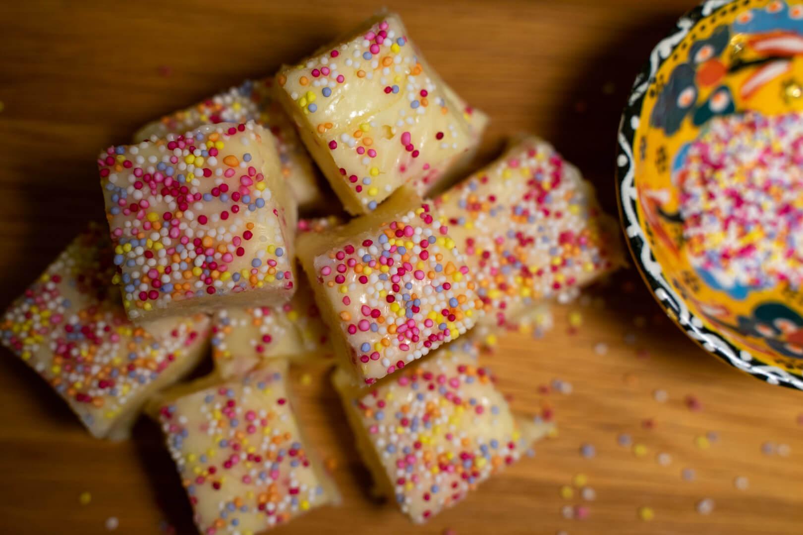 White Chocolate Sprinkle Fudge Recipe