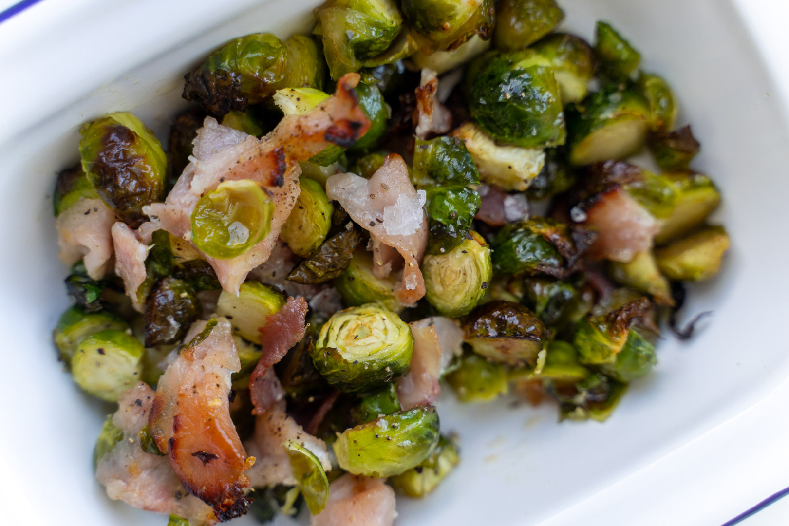 Maple Brussels Sprouts with Bacon