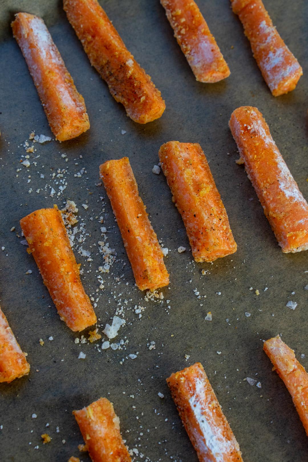 Crispy Baked Carrot Fries