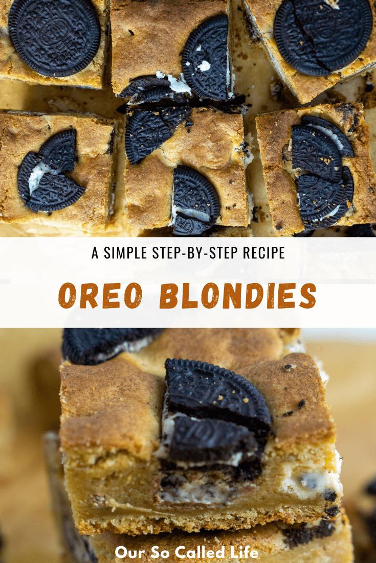 Oreo Blondies