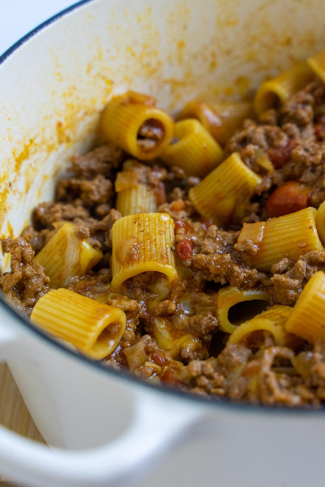 One Pot Pasta Bolognese Recipe