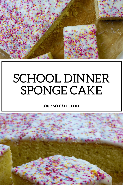 School Dinner Sponge Cake