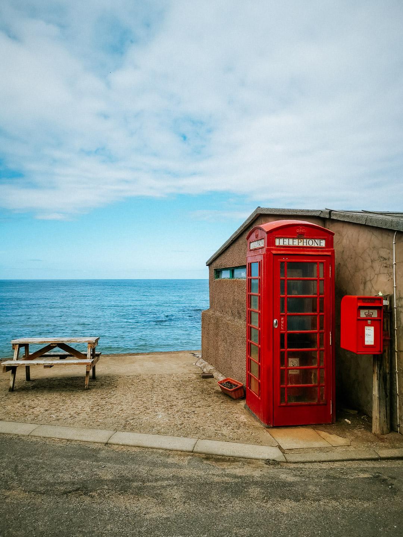 Pennan Postbox and Phonebox