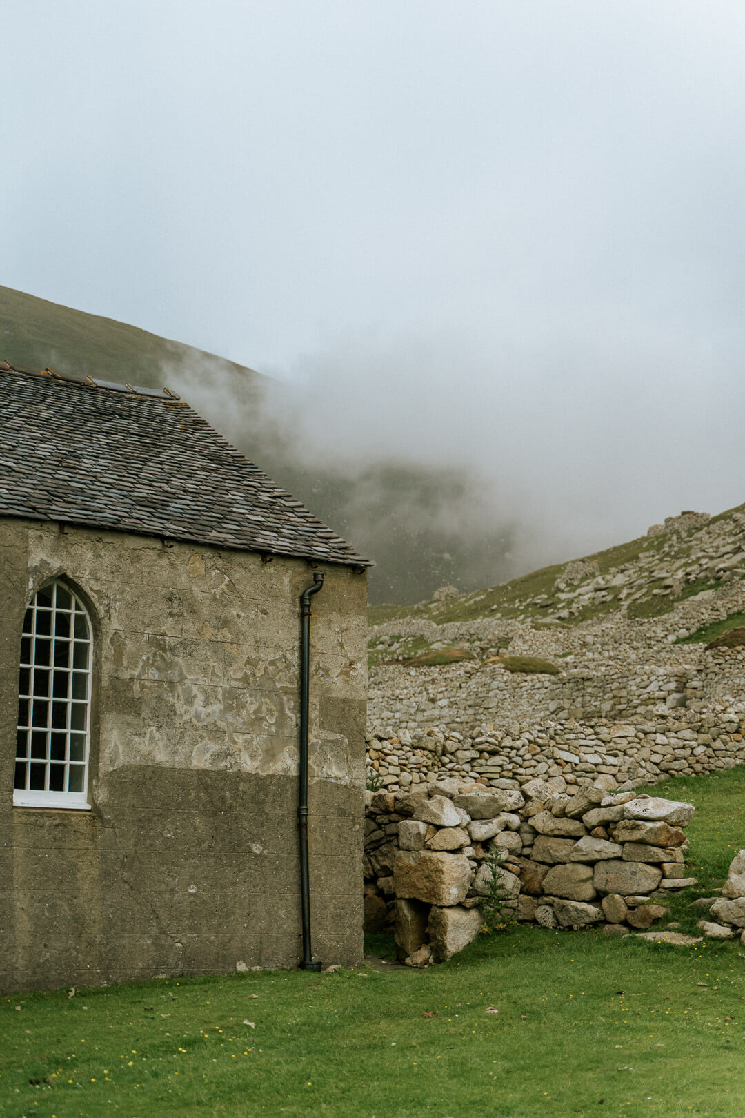 Mist behind old School/Church