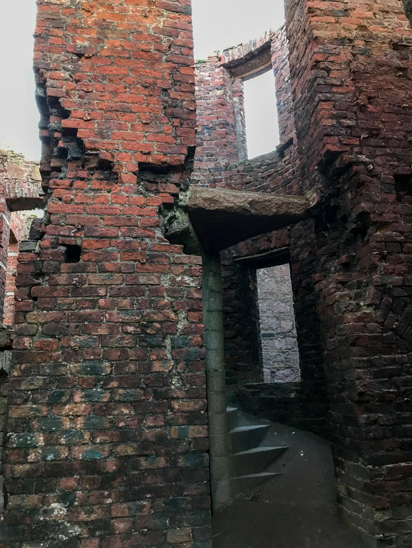Staircases inside Slains Castle