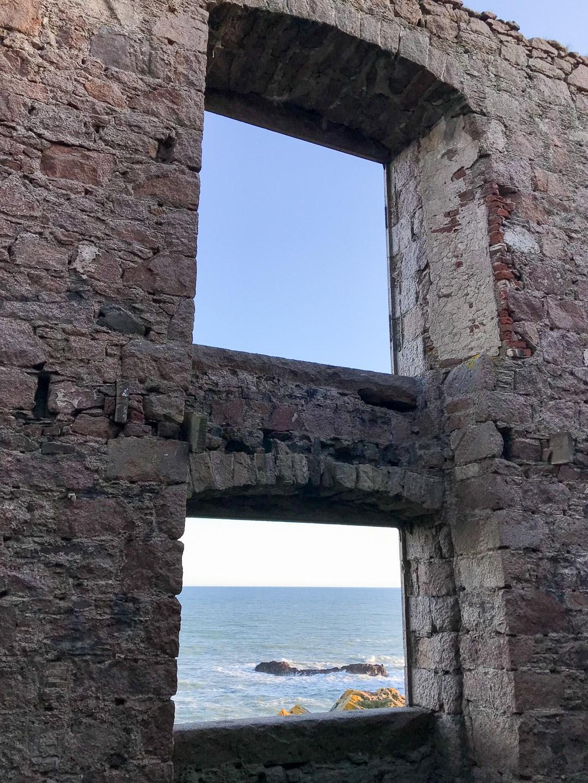Windows inside Slains Castle