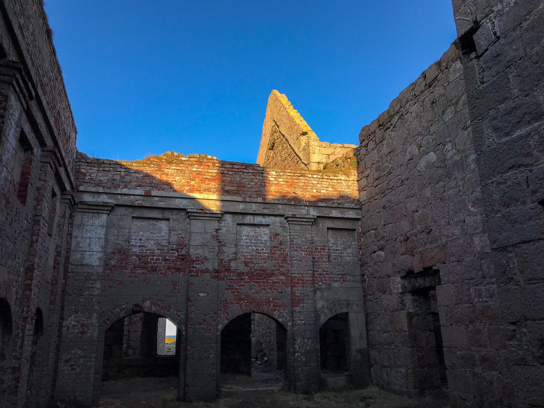Inside Slains Castle