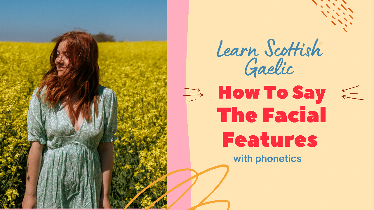 How to say the facial features in Scottish Gaelic