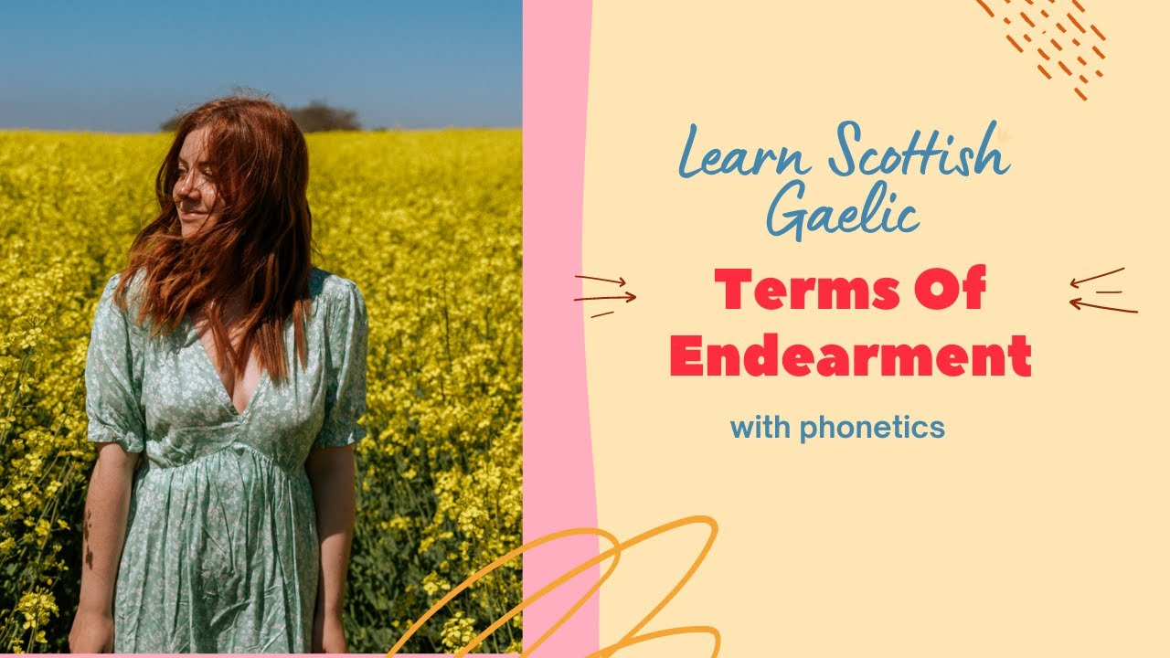 Scottish Gaelic terms of endearment